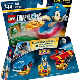 Конструкторы - Редкий LEGO Dimensions 71244 «Ёжик Соник» ― Набор Уровня, 0