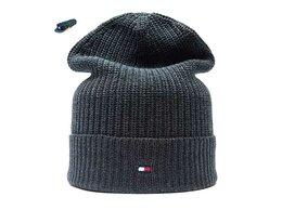 Головные уборы - Шапка мужская Tommy Hilfiger (серый) удлиненная , 0
