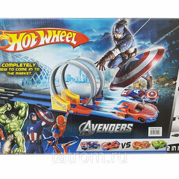 Игровые наборы и фигурки - Игровой набор Человек-паук против Капитана Америки Hot Wheel, 0