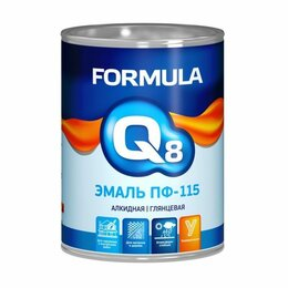 Ингредиенты для приготовления напитков - Эмаль ПФ-115 черная 10 кг Formula Q8 Престиж, 0