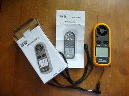 Измерительные инструменты и приборы - Портативный цифровой анемометр., 0
