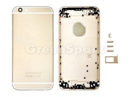 Корпусные детали - Задняя крышка для iPhone 6S (золото) класс AAA, 0