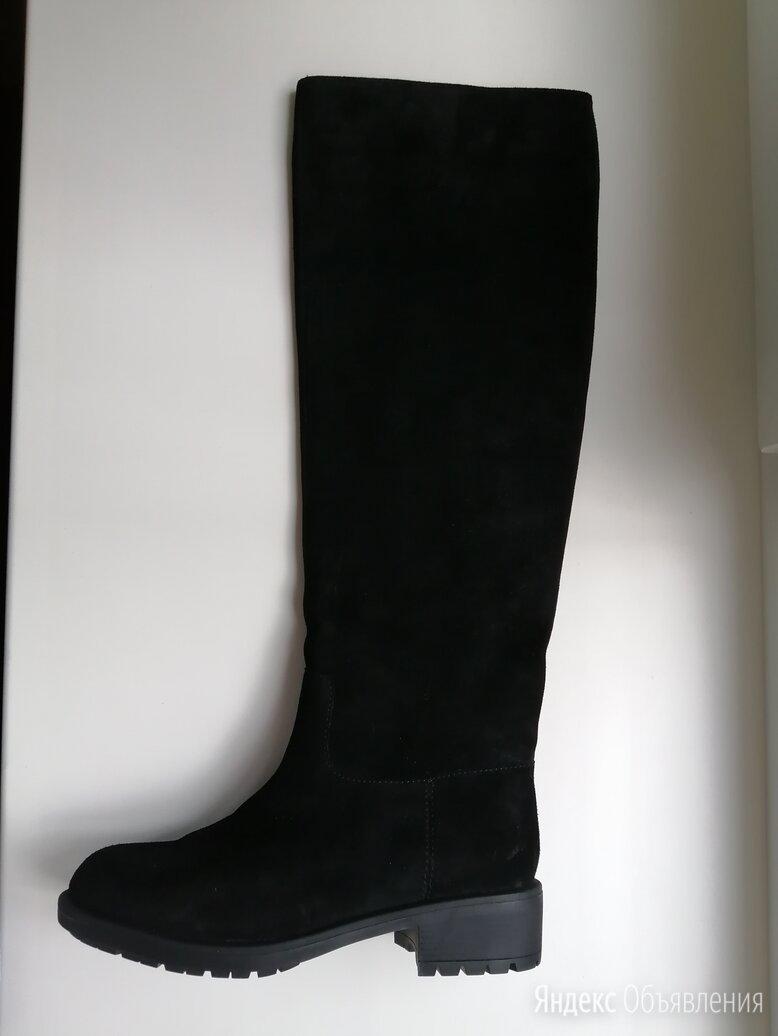 Чёрные сапоги из спилка Calipso по цене 5500₽ - Сапоги, фото 0