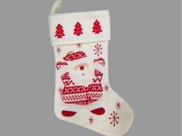 Новогодний декор и аксессуары - Носок для подарков САНТА СКАНДИ, текстиль, 46…, 0