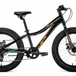 """Велосипеды - Подростковый фэт-байк FORWARD Bizon Micro 20 черный/желтый 11"""" рама (2020), 0"""