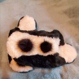 Домашняя обувь - Меховые тапочки (Овчина), 0