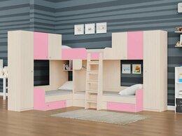Кровати - Детская трехместная кровать для девочек ТРИО/3 …, 0