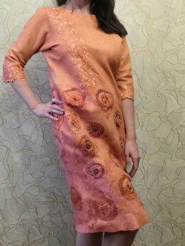 Платья - валянное нарядное платье ручной работы, 0