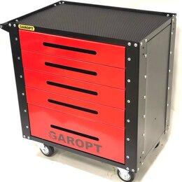 Шкафы для инструментов - Тележка инструментальная Garopt GT5.red (5 ящиков, без ЦЗ), 0