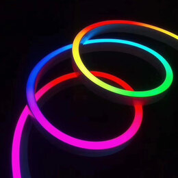 Светодиодные ленты - Гибкий неон 12в RGB, 0