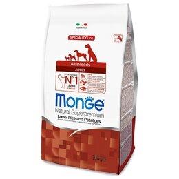 Корма  - Сухой корм Monge Dog Speciality Line Lamb Rice…, 0