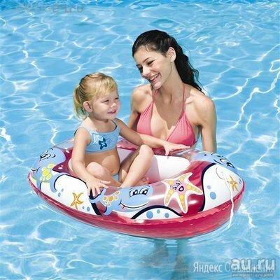 Детская надувная лодка от 1.5 до 6 лет. по цене 350₽ - Круги и матрасы , фото 0
