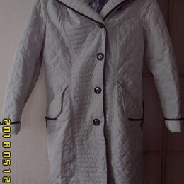 Пальто - Пальто женское, стёганное, д/сезонное, белое, 0