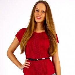 Блузки и кофточки - Женская блузка с гипюром и складками, новая, 42-48, 0