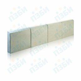 Тротуарная плитка, бордюр - Бордюр бетонный садовый 1000х210х50 серый, 0