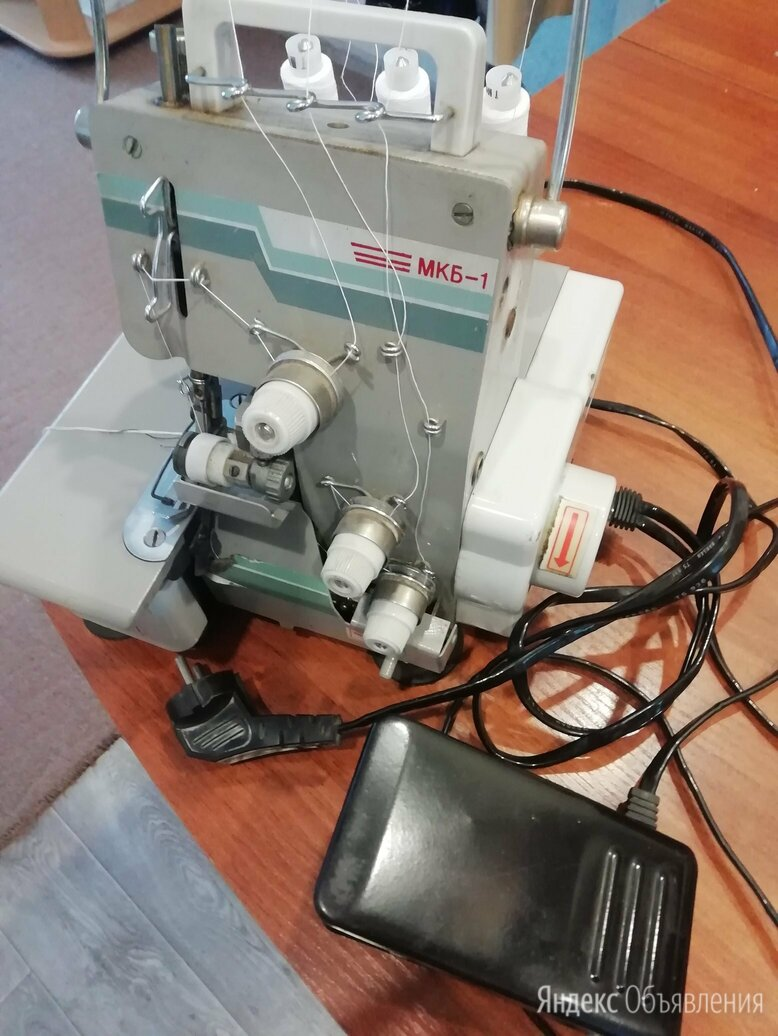 Бытовой трехниточный оверлок МКБ-1  по цене 4000₽ - Швейные машины, фото 0
