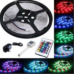 Светодиодные ленты - Лента диодная цветная+пульт RGB, 0