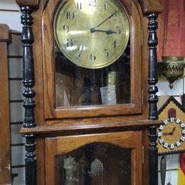 Часы напольные - часы напольные в деревянном корпусе, 0
