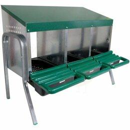 Товары для сельскохозяйственных животных - Гнездо для кур несушек Platinum, 3 секции, на ножках - Домики и гнезда для птиц, 0