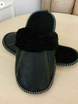 Домашняя обувь - Тапочки мужские кожаные, 0