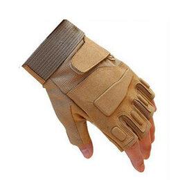 Перчатки и варежки - Перчатки беспалые, тактические Blackhawk! песочные, 0