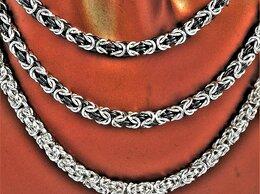 Цепи - Колье-цепочки серебряные, Византия, родированные…, 0