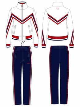 Спортивные костюмы - Женские спортивные костюмы белый эластик (44-56), 0