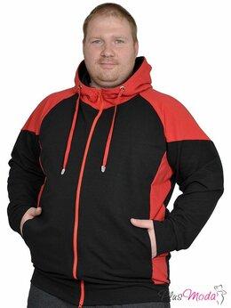 Футболки и топы - Куртка спортивная для мужчин больших размеров №738, 0