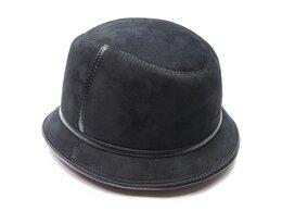 Головные уборы - Шляпа панама мужская меховая (черный), 0