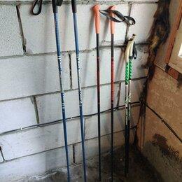 Палки - Лыжные палки Нева 145 см синего цвета СССР, 0