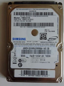 Внутренние жесткие диски - Супер жесткий диск Samsung 320 GB для ноутбука, 0