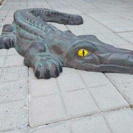 Садовые фигуры и цветочницы - Фигура крокодила из бетона., 0