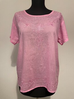 Блузки и кофточки - Летняя розовая блузка (новая), 0