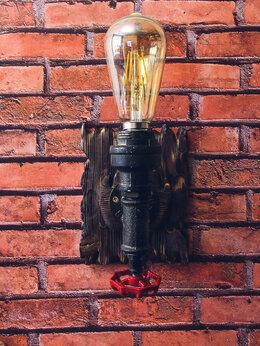 Настенно-потолочные светильники - Настенный светильник, бра в стиле лофт,…, 0