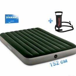 Надувная мебель - Надувной матрас для сна Intex 64109 + насос, 0