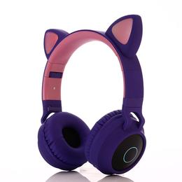 Наушники и Bluetooth-гарнитуры - Наушники Wireless Headphones Cat Ear (фиолетовый), 0