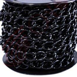 Цепи -    Декоративная цепочка металлическая Хай-тек 15х10мм, 0