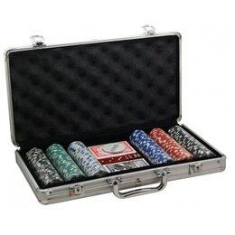 Настольные игры - Покер, набор, металл 300 фишек, 0