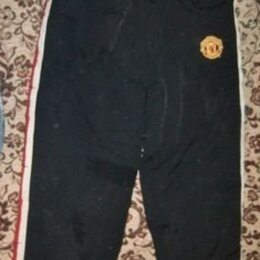 Спортивные костюмы и форма - Брюки р. 42-44 спортивные непромокаемые  теплые.  Манчестер Юнайтед Длина 100 см, 0