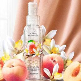 Тонизирование - Освежающий лосьон-спрей для тела Белый персик и ванильная орхидея 100мл Avon, 0