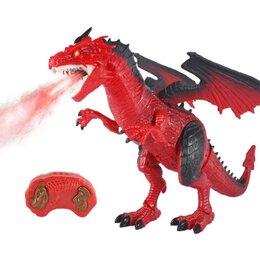 Радиоуправляемые игрушки - Радиоуправляемый красный дракон (дышит паром) -…, 0