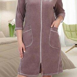 Домашняя одежда - Теплый велюровый халат, 0