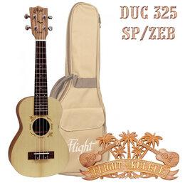 Укулеле - Flight DUC 325 SP/ZEB укулеле концерт с чехлом, 0