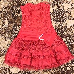 Платья - Платье женское ярко-красное 44-46 размер, 0