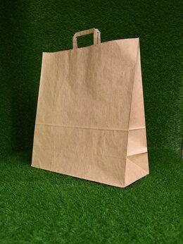 Пакеты - Крафт пакет с плоскими ручками 480х445х180 мм…, 0