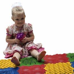 Развивающие коврики - Модульный массажный коврик-пазл 8 пазлов, 0