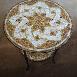 Столы и столики - Журнальный столик, круглый. Мозаика. , 0