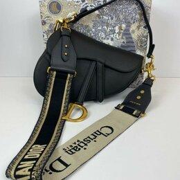 Клатчи - Сумка Christian Dior Saddle Bag женская кожаная черная новая, 0