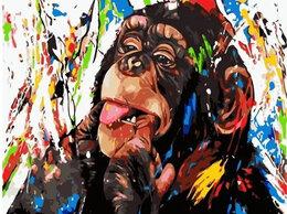 Раскраски и роспись - Картины по номерам Paintboy Яркая обезьянка, 0