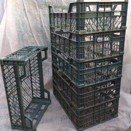 Корзины, коробки и контейнеры - Ящики пластиковые, зеленые, бу,   размер  40х60х18, 0